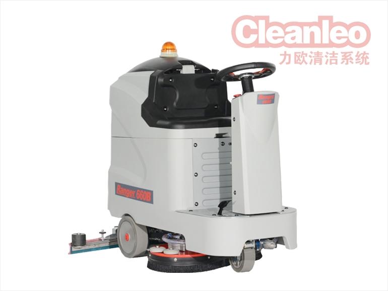 力欧 Rangr660BT 双刷驾驶式小型洗地吸干机